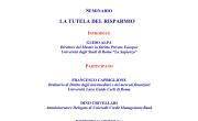 26 novembre 2014: LA TUTELA DEL RISPARMIO