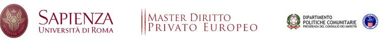 Master Diritto Privato Europeo